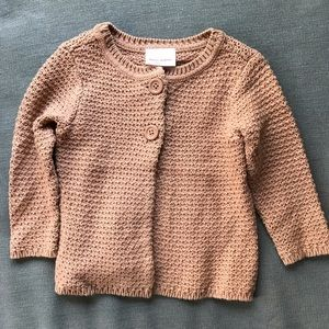 Hannah Andersson taupe knit cardigan